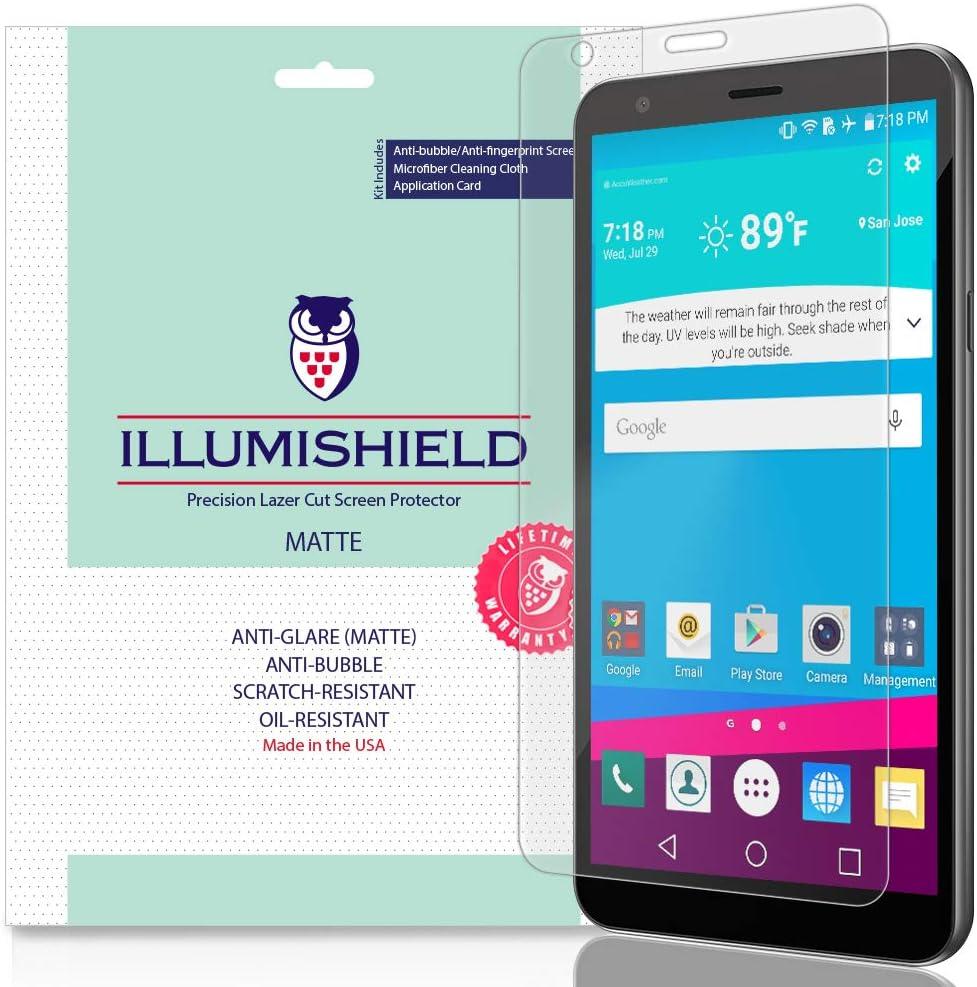iLLumiShield Matte Screen Protector Compatible with LG Escape Plus (3-Pack) Anti-Glare Shield Anti-Bubble and Anti-Fingerprint PET Film