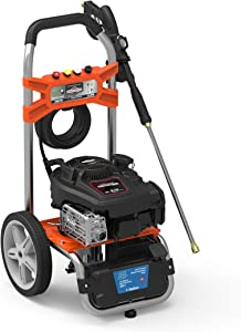 YARD FORCE YF3100ES-R 3100 Psi Gas Pressure Washer w/Briggs & Stratton Engine, Remote Start, Black/Orange