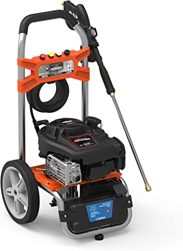 YARD FORCE YF3100ES-R 3100 Psi Gas Pressure Washer w Briggs Stratton Engine, Remote Start, Black Orange