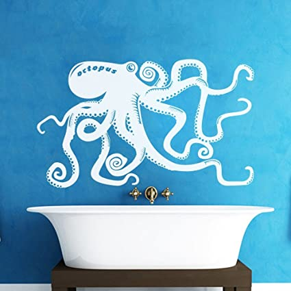 Amazoncom Vinyl Octopus Wall Decal Kraken Wall Decor Octopus Wall