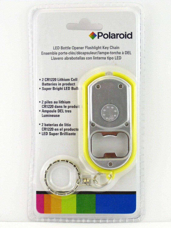 Amazon.com: Polaroid LED Bottle Opener Flashlight Key Chain ...