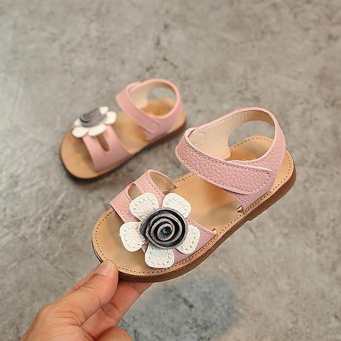 Zapatos de Princess ️️Lonshell Sandalias de Suela Blanda de Flores Sandalias de Niñas Bebé Zapatos de Moda 2018: Amazon.es: Ropa y accesorios