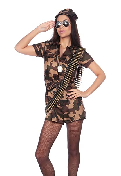 6d96ba4decf For Ever Fancy Sexy Arni Khaki Combat Army Military Girl Costume ...