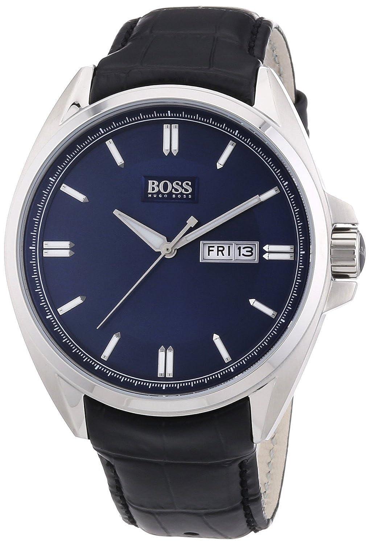 ヒューゴボス Hugo Boss Men's Quartz Watch 1512877 1512877 with Leather Strap [並行輸入品] B01AUL0PTE