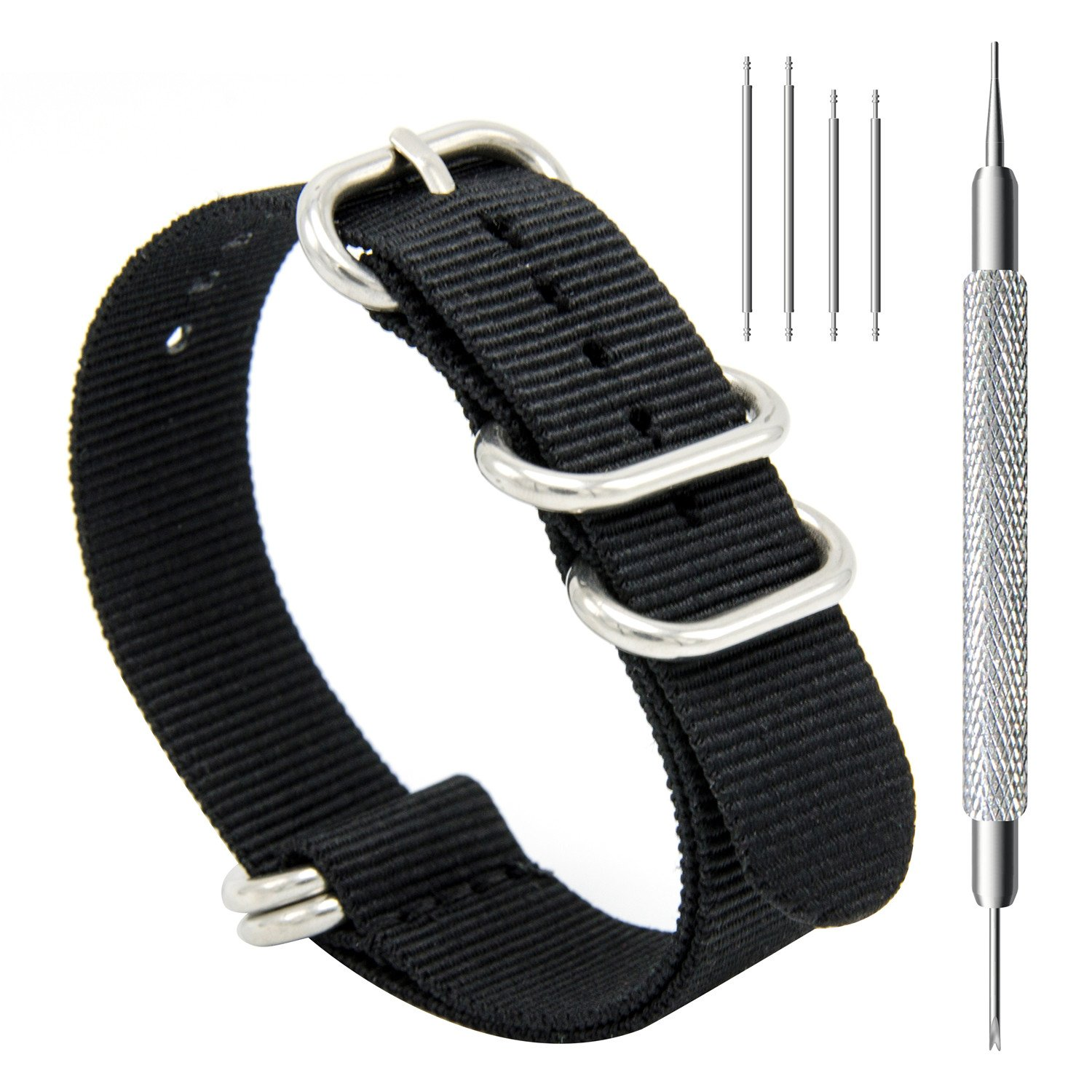 bands watch black loop for strap apple with leather band magnetic