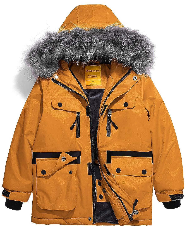 Amazon.com  Wantdo Boys Waterproof Ski Jacket Parka Outdoor Jacket  Windproof Warm Winter Coat  Clothing b32d6a2b14aa