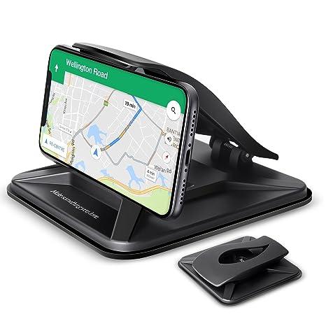 Soporte de teléfono móvil para coche, salpicadero de coche HomEASY para iPhone X 8 Plus 7 Plus 6 6S Plus, soporte de GPS antideslizante para coche para ...