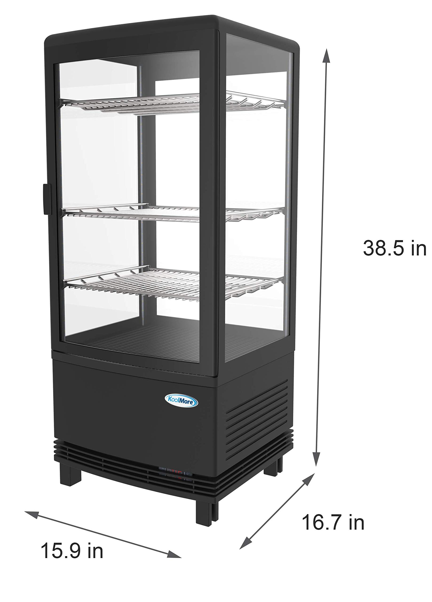 KoolMore Countertop Refrigerator Display Case Commercial Beverage Cooler with LED Lighting - 3 cu. ft Capacity by KoolMore (Image #5)