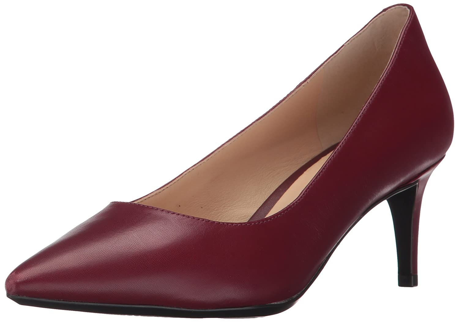 Nine West Women's SOHO9X9 Leather Pump B01NBHRD9L 8 B(M) US|Wine