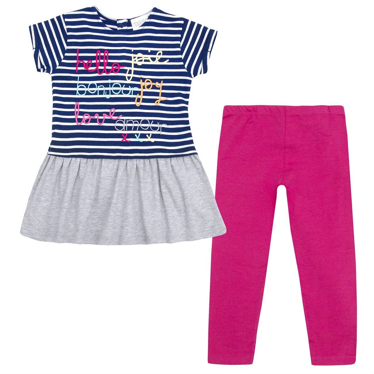 Minikidz Infant Girls Tunic Pants Outfit Ages 2 Up To Legging Cotton Rich 4pc 8 Years Casual Fashion Clothing