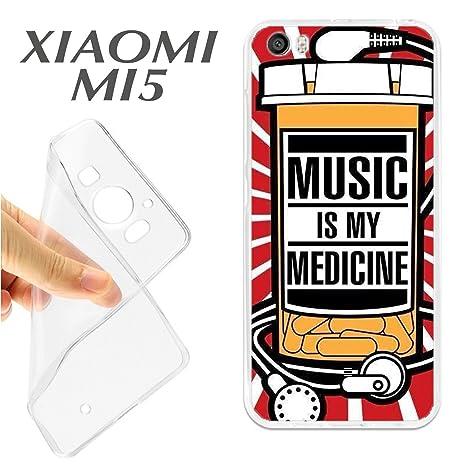 J188 XIAOMI MI5 CARCASA FUNDA TPU MUSIC IS MY MEDICINE ...