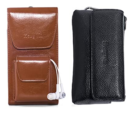 san francisco d1c66 5c01f Hengwin 2 Pack Cell Phone Belt Holster iPhone Xs Max Belt Loop Pouch Case  iPhone XR Belt Clip Holster Pouch Phone Holder Men Purse Leather Waist Bag  ...