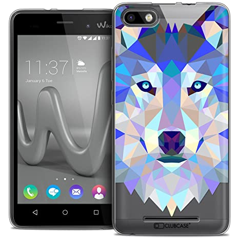 best service 7e7d8 ee26b Caseink - Coque Housse Etui pour Wiko Lenny 3  Crystal Gel HD Polygon  Series Animal  Amazon.fr  High-tech