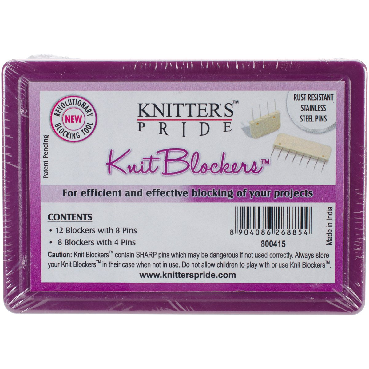 Amazon.com: Knitter\'s Pride KP800415 Knit Blockers & Pin Kit