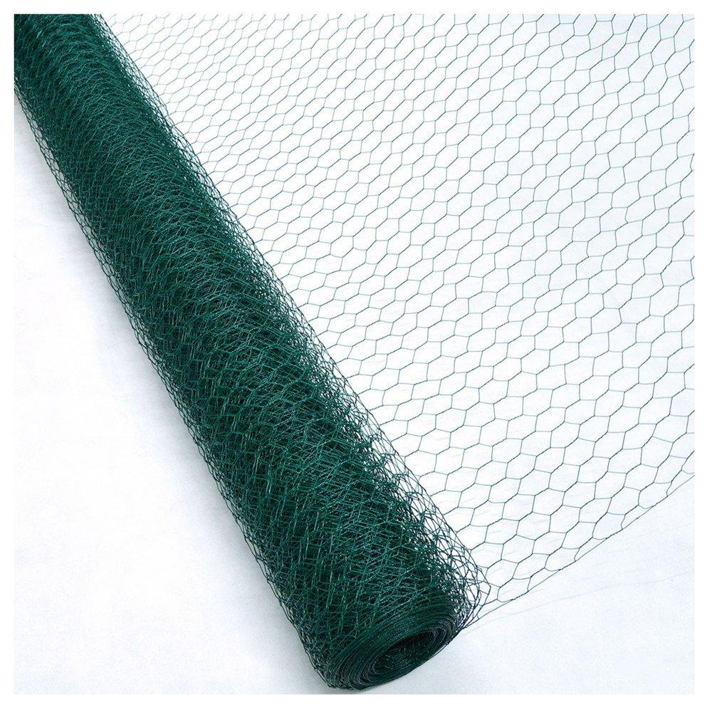 levpet grün Sechskant PVC beschichteter Hühnerzaun Draht Mesh ...