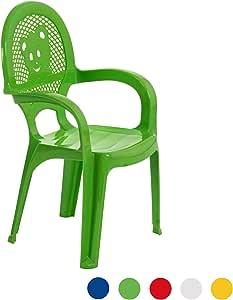 Resol niños Niños del jardín al aire libre silla de plástico - verde - Childs Muebles (1 silla): Amazon.es: Hogar