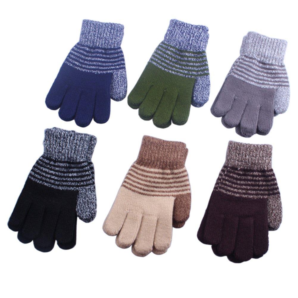 2/3 Pairs Children Kids Boy Girl Soft Imitation Wool Cashmere Winter Mittens Gloves KM0034014-10