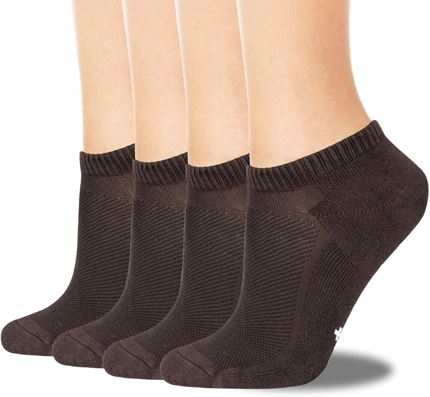 +MD Mens Breathable Bamboo Socks Moisture wicking and Odor Resistant Low Cut No Show Athletic Socks,4 Pack