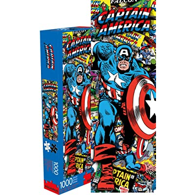 Marvel Capt America Collage 1000 pc Puzzle: Toys & Games