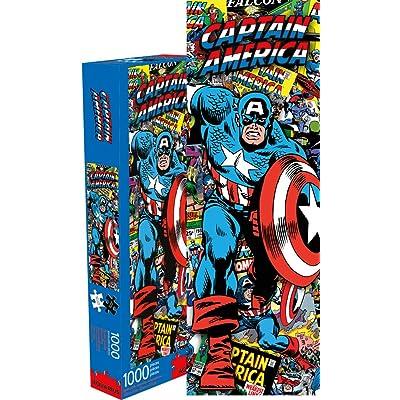 Marvel Capt America Collage 1000 pc Puzzle: Toys & Games
