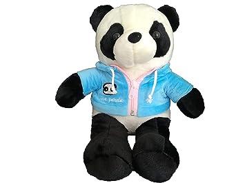 Oso Panda Peluche Animal Realista Chaqueta Sudadera Cremallera Capucha (Azul): Amazon.es: Juguetes y juegos