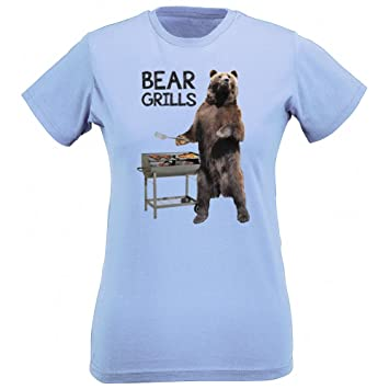 AnimalsYeahYeah Oso Parrillas para mujer Slim Fit T-Shirt (X ...