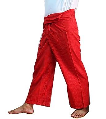 Amazon.com: Pesadas De Algodón Thai Pescador pantalones de ...