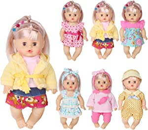 Huang Cheng Toys Set of 6 Doll Clothes for 12 Inch Doll Alive Baby Dress Clothes Outfits Costumes Gown Doll Accessories Clothing Handmade