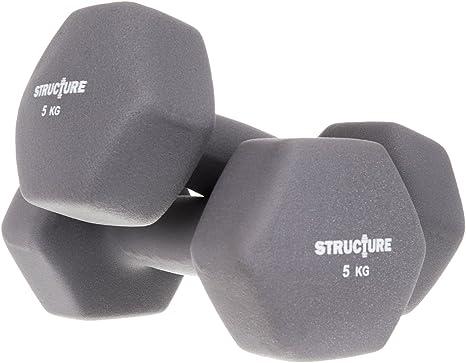 Structure Fitness Juego de mancuernas de neopreno, pesas de hierro ...