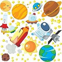 Adesivo de Parede Astronauta no Espaço para Quarto Infantil