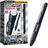 """TACPEN DELUXE with Brighter Flashlight by Bell+Howell 9-in-1 Aluminum Casing, 7"""" Military-grade Technical Pen, Escape Tool, w"""