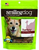 Herbsmith Smiling Dog Dry Roasted Turkey Treats for Dogs and Cats, 3-Ounce
