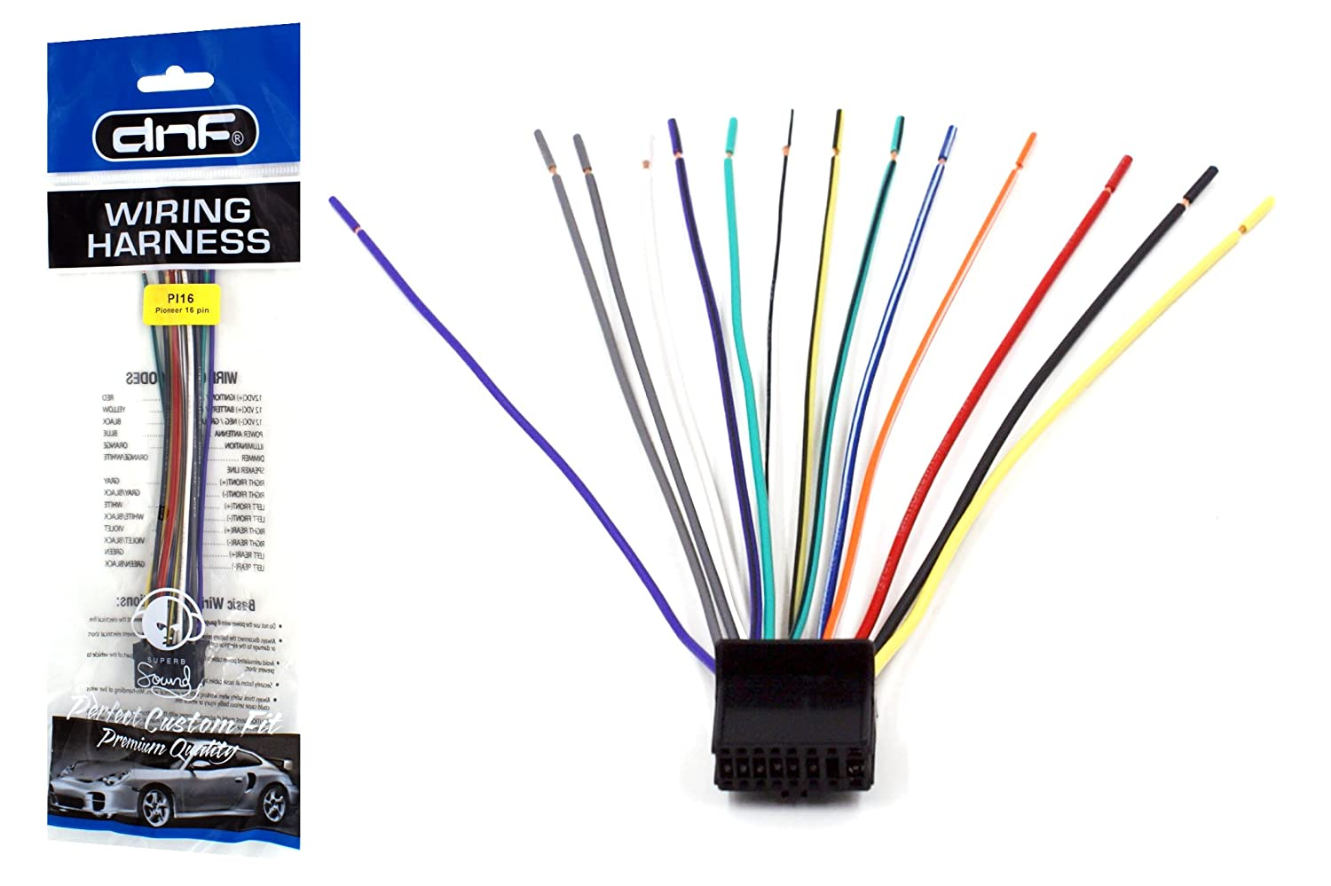 amazon com: dnf pioneer wiring harness deh-p4800mp deh-p4900ib deh-p5000ub  - 100% copper wires!: automotive