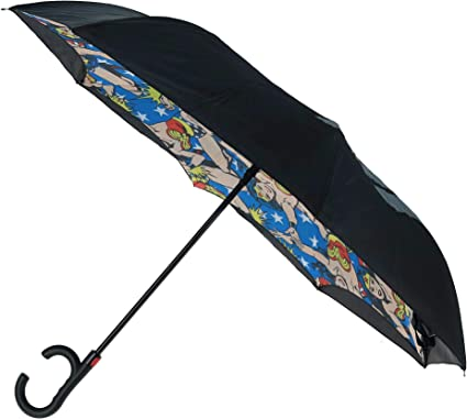 Bioworld Parapluie Wonder Woman Reverse Pliable DC Comics Parapluie DC Comics Cadeau