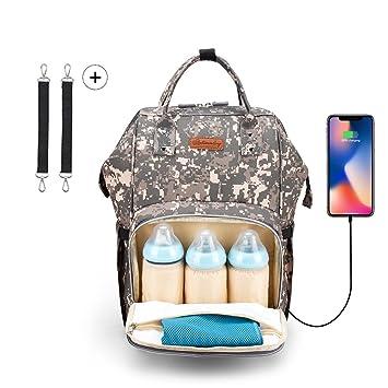 Amazon.com: Camuflaje bolsa de pañales mochila, Gran ...