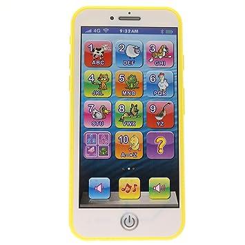 e9f6f347e6d ... Música Táctil Teléfono Celular Educación Temprana Aprendizaje Números  ABC Letras Play Animal Celular como iPhone 6 7 8 para Bebé Niños Juegos de 1