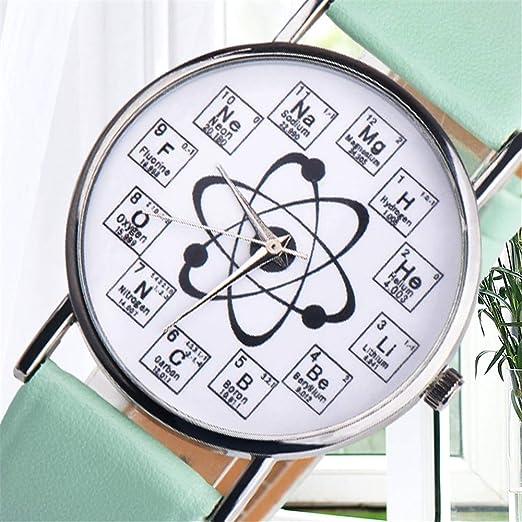 Reloj de Pulsera analógico de Cuarzo, Reloj de Moda de Color ...