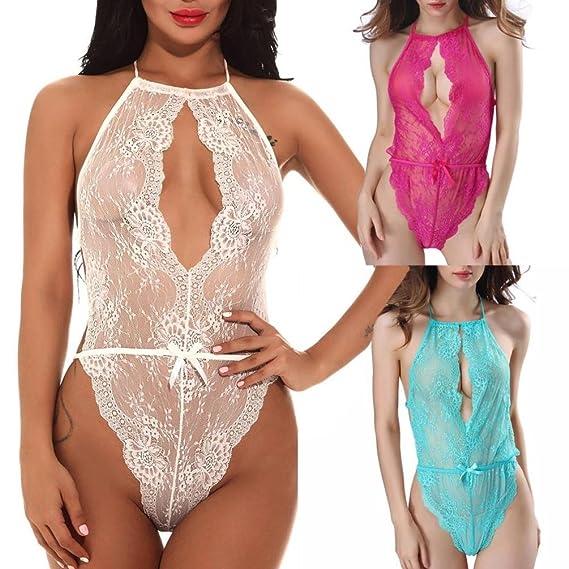 Mujeres de la manera ropa interior atractiva del cordón de Racy Spice Suit Tentación ropa interior