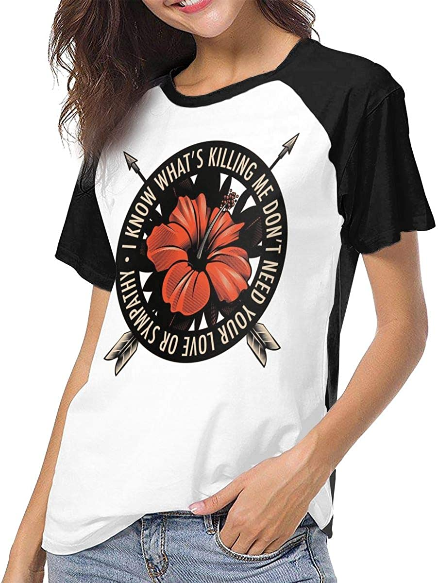 MaMing Dance Gavin Dance Womens Casual Baseball Shirt New Short Sleeves T-Shirt Black