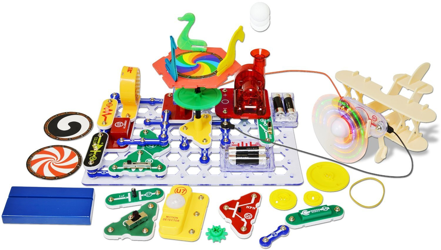 Snap Circuits Motion Electronics Exploration Kit | Over 165 Exciting STEM Projects | 4-Color Project Manual | 50+ Snap Modules | Unlimited Fun by Snap Circuits (Image #2)