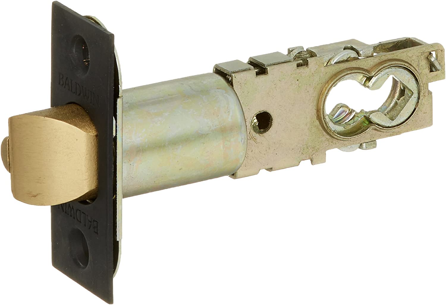 Baldwin 5210 Universal Backset Deadlocking Latchbolt for Keyed Entry Baldwin Loc, Oil Rubbed Bronze