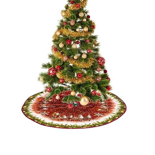 Bweele Falda de árbol de Navidad, Falda de árbol de Navidad con ...