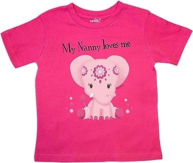 inktastic Aditi My Sis Loves Me Pink Elephant Long Sleeve Creeper Tiny Tusks