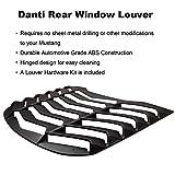 Danti Matte Black Rear and Side Window Louvers