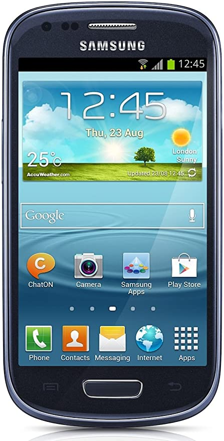 Samsung S3 Mini Sim Karte.Samsung Galaxy S3 Mini I8190 Smartphone 4 Zoll 10 2 Cm Touch Display 8 Gb Speicher Android 4 1 Pebble Blau