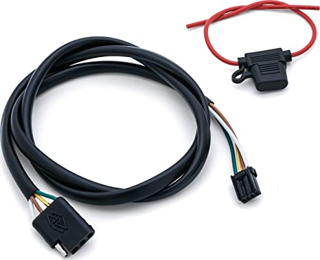 kuryakyn 2596 motorcycle accessory plug \u0026 play trailer wiring with relay harness for 2014 19 harley davidson flh flt motorcycles with 4 wire trailer Dodge Trailer Wiring Harness