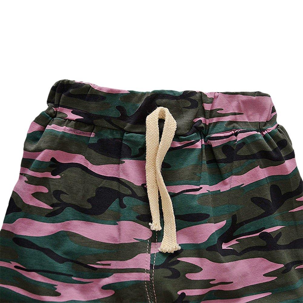 TAIYCYXGAN Baby Toddler Boys Casual Elastic Shorts Summer Camouflage Pants