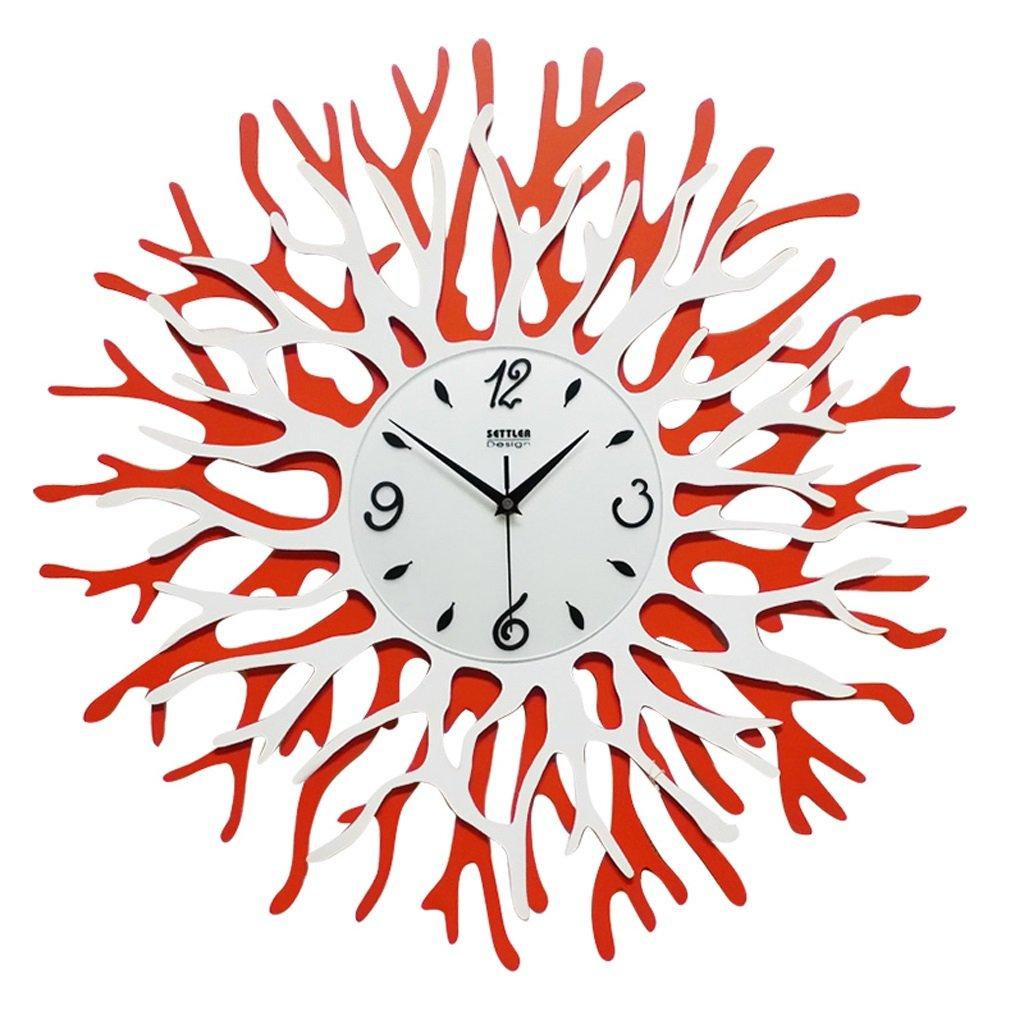 ウォールクロック、家の壁の装飾の壁時計-23.6インチ(60cm)リビングルームの寝室の時計、装飾された静かな時計。 B07D6N2GK2