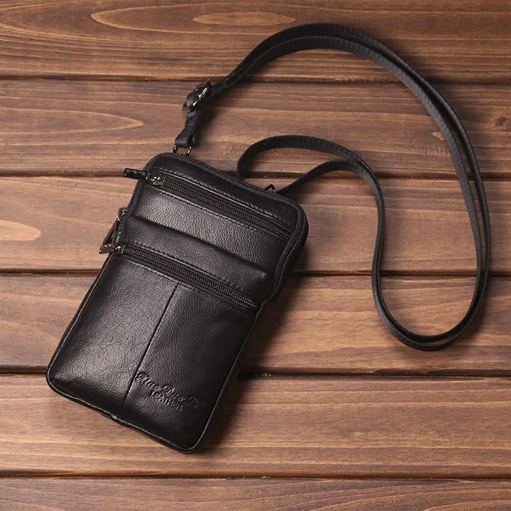 Genuine Leather Mens Belt Waist Bags Men Travel Shoulder Crossbody Male Business Messenger Bag Chest Fanny Pack