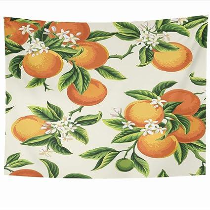 Amazon Com Ahawoso Tapestry 60x50 Inches Yellow Blossom